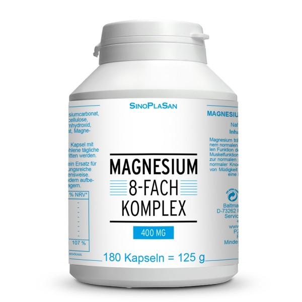 Magnesium 8x Complex 400 mg 180 Capsules