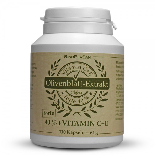 Olive Leaf Extract Capsules 40% FORTE 110 pcs