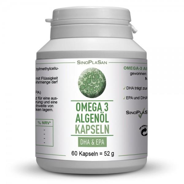 Omega-3 Algenöl DHA+EPA 60 Capsules