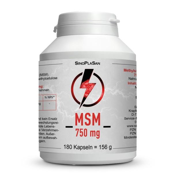 MSM 750mg MONO 99,9% Capsules