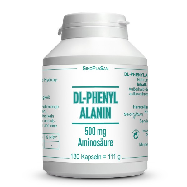 DL-Phenylalanine 500mg 180 capsules