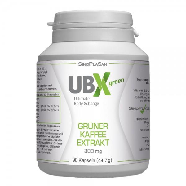 UBXgreen - Green Coffee Extract 300mg 90 pcs