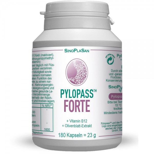 Pylopass FORTE 180 Capsules with B12 & OLE