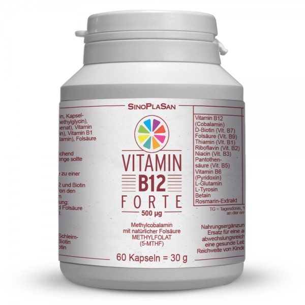 Vitamin B12 FORTE 500 µg Methylcobalamin