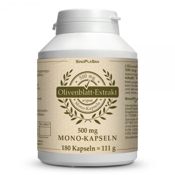 Olive Leaf Extract MONO 500mg Capsules 180 pcs