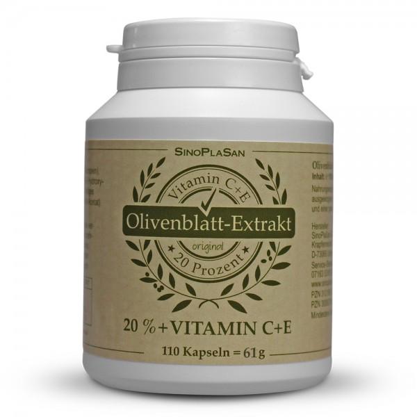 Olive Leaf Extract Capsules 20% 110 pcs